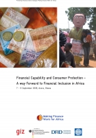 Financial Capabilty and Consumer Protection - A Way Forward to Financial Inclusion in Africa